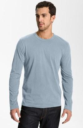 Men's James Perse Long Sleeve Crewneck T-Shirt $70 thestylecure.com