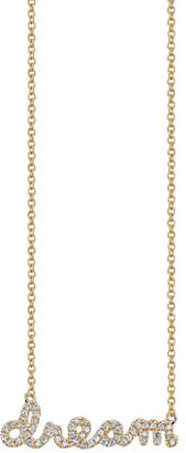 Sydney Evan 14k Yellow Gold Dream Script Necklace, Youth 7-14