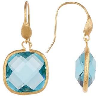 Rivka Friedman 18K Gold Clad Denim Crystal Dangle Earrings