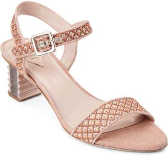 Aperlaï Copper Sandy Metallic Jacquard Sandals