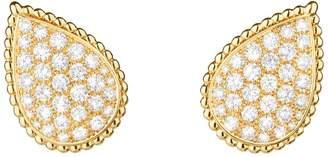 Boucheron Yellow Gold and Diamond Serpent Bohème Clip Earrings