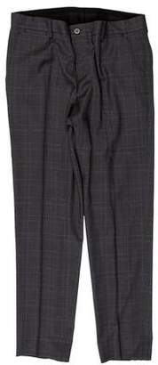 Dolce & Gabbana Plaid Wool Dress Pants