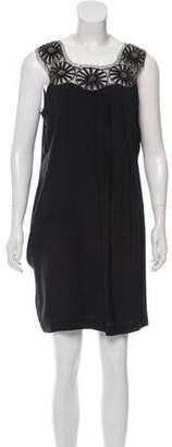 Philosophy di Alberta Ferretti Embellished Silk Dress