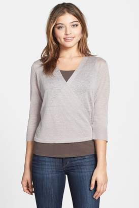 NIC+ZOE Four-Way Convertible 3/4 Sleeve Cardigan $196 thestylecure.com