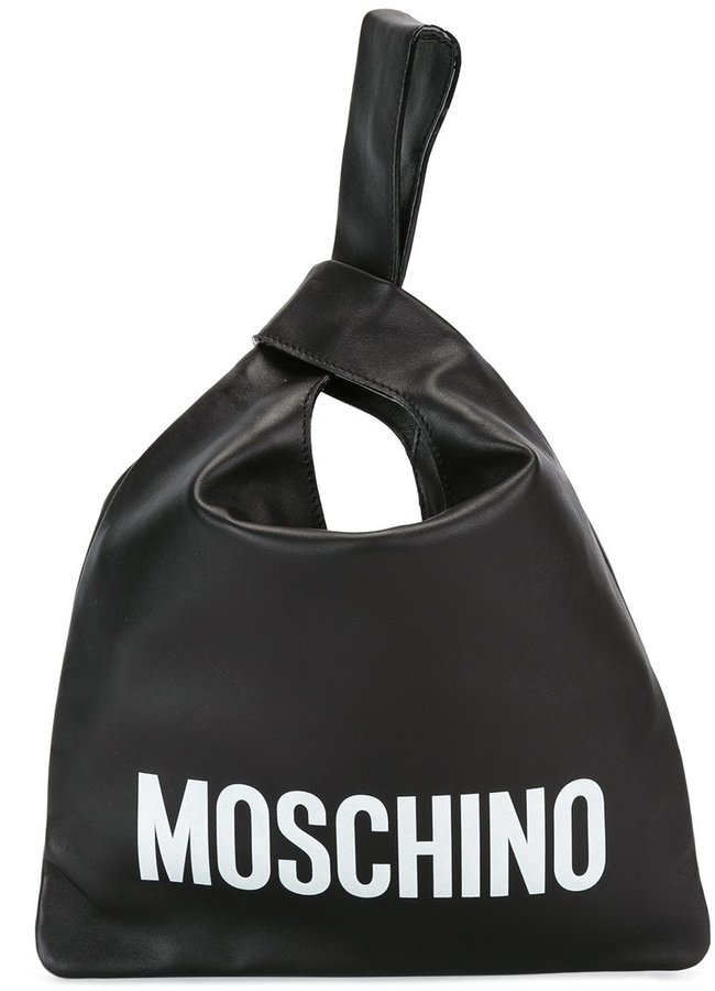 MoschinoMoschino loop strap tote