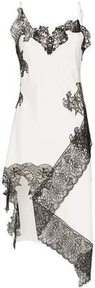 Marques Almeida Marques'Almeida lace-trimmed slip dress