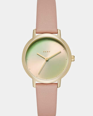 DKNY The Modernist Pink Analogue Watch
