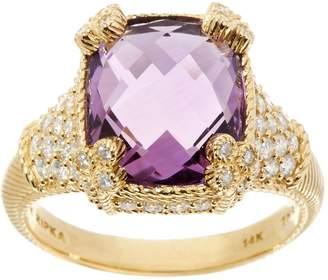 Judith Ripka 14K Gemstone & 7/10 cttw Diamond Monaco Ring