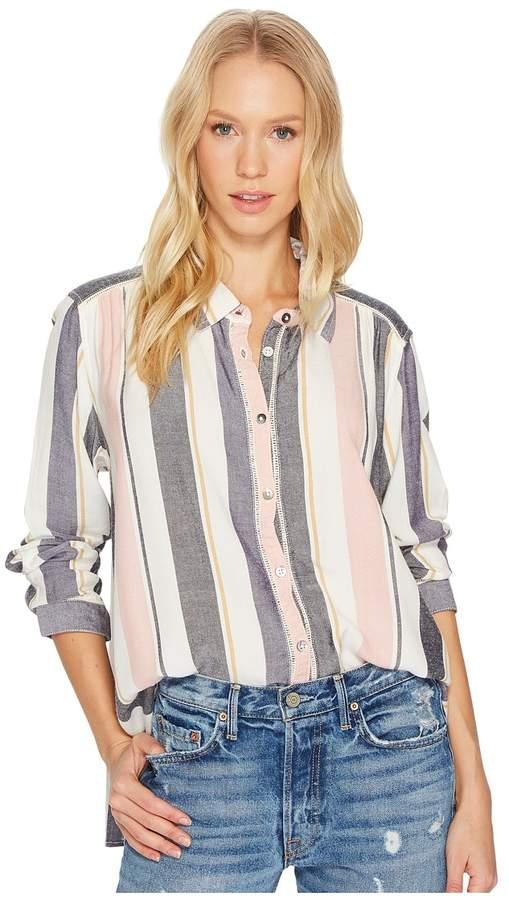 Roxy - Romantic Path Stripe Woven Top Women's Clothing