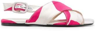 Anna Baiguera cross strap sandals