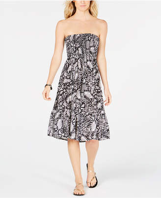 2304ea83d2 at Macy s · Raviya Printed Strapless Cover-Up Dress