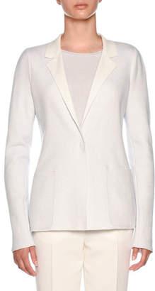 Agnona Cashmere Platino Slim-Fit Jacket