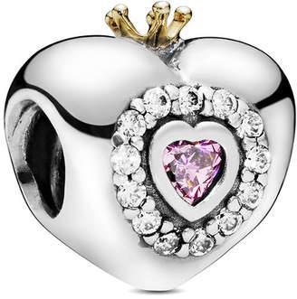 Pandora Silver Cz Princess Heart Charm