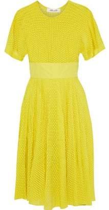 Diane von Furstenberg Pintucked Fil Coupé Chiffon Dress