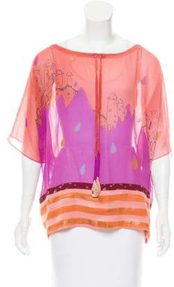 Tsumori Chisato Printed Silk Top
