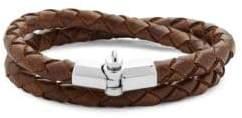 Miansai Sterling Silver Braided Leather Bracelet