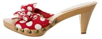 Miu Miu Polka Dot Slide Sandals Red Polka Dot Slide Sandals