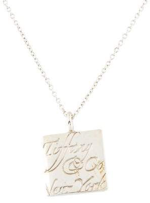 Tiffany & Co. Square Notes Pendant Necklace