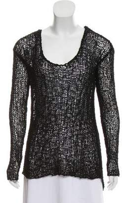 Helmut Lang Netted Long-Sleeve Sweater