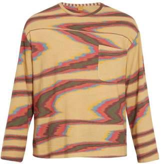 Missoni Aztec-print long-sleeved cotton T-shirt