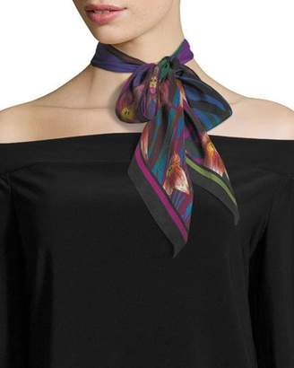 Silk Square Scarf - iris-2 by VIDA VIDA