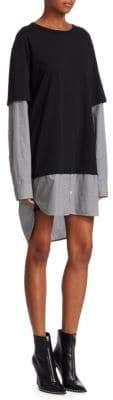 Alexander Wang Cotton Poplin Double Layer Dress