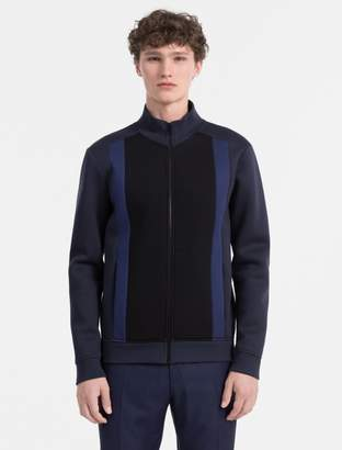 Calvin Klein slim fit bonded jersey zip jacket