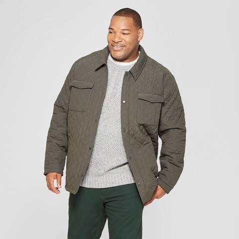 Goodfellow & Co Men's Big & Tall Quilted Shirt Jacket