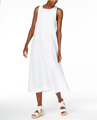 Eileen Fisher Organic Linen A-Line Dress, Regular & Petite $338 thestylecure.com