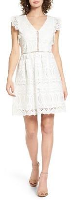 Women's J.o.a. Lace Fit & Flare Dress $105 thestylecure.com