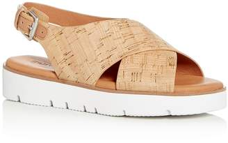Gentle Souls Women's Kiki Cork Slingback Platform Sandals