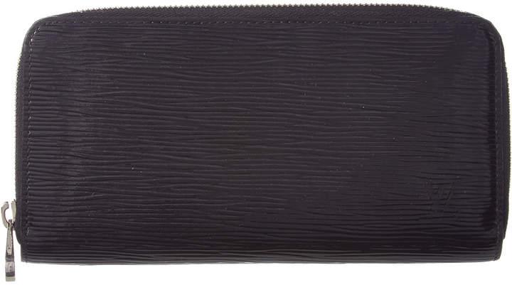 Louis Vuitton Noir Epi Electric Leather Zippy Wallet