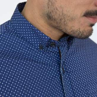 Blade + Blue Navy Blue with Mini Paisley Print Shirt - Parke