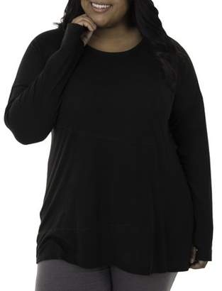 Fruit of the Loom Fit for Me by Women's Plus Size Active Pieced Tunic Tee