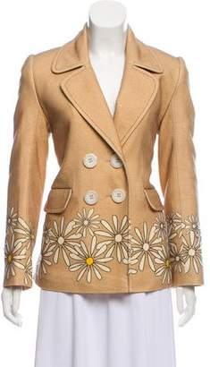 Natasha Zinko Printed Wool-Blend Coat