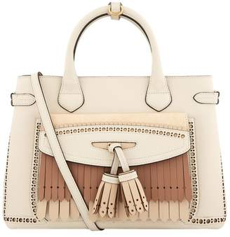 Burberry Medium Fringed Banner Tote Bag
