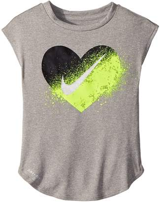 Nike Spray Heart Dri-FIT Modern Tee Girl's T Shirt