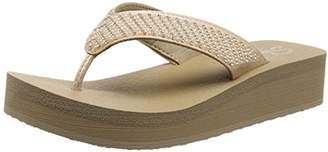 Skechers Women's Vinyasa-Beach League-Pearl/Rhinestone Flip Flop