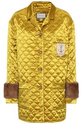 Gucci Fur-trimmed quilted jacket