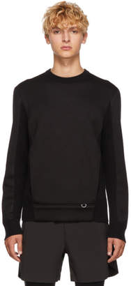 BLACKBARRETT by NEIL BARRETT Black Hybrid Winter Sweater