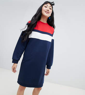 Monki jersey sweat dress in navy