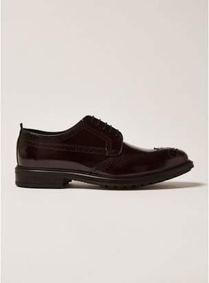 Topman Mens Red Burgundy Premium Leather Orpin Brogues