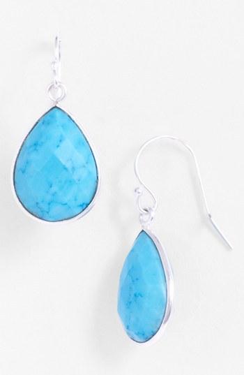 Nunu Designs Stone Teardrop Earrings
