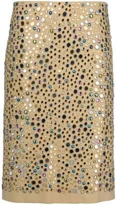 Bottega Veneta gemstone studded skirt