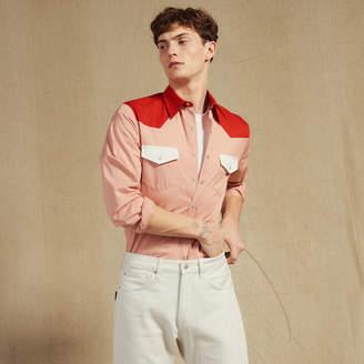 Sandro Colorblock Western-Style Shirt