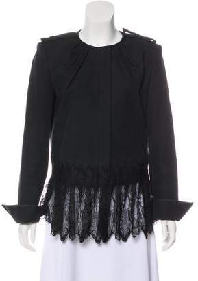 Thomas Wylde Lace-Trimmed Zip-Up Jacket