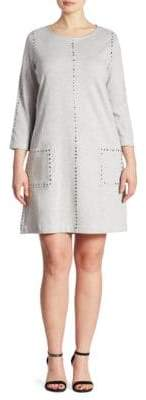 Joan Vass Studded Cotton Interlock Dress