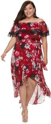 JLO by Jennifer Lopez Plus Size Floral Off-the-Shoulder Maxi Dress