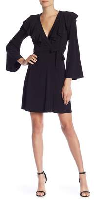 Taylor Ruffle Front Bell Sleeve Jersey Dress