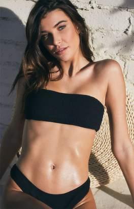 LA Hearts Black Scrunchy Bandeau Bikini Top